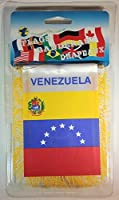 "Venezuela Flag Rear View Mirror Mini Banner 4""x 5.5"" [並行輸入品]"