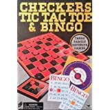 Cardinal 3 Game Pack, Checkers, Tic Tac Toe and Bingo