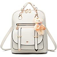 Pahajin Ladies backpack fashion new student casual shoulder bag PU leather backpack