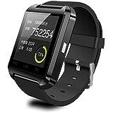 (ジデテコ)JideTech U8 スポーツウォッチ for IPhone 6/5s/5/4s/4 Samsung S4/Note2/Note3/Note4 Android Phone スマート腕時計 (ブラック)