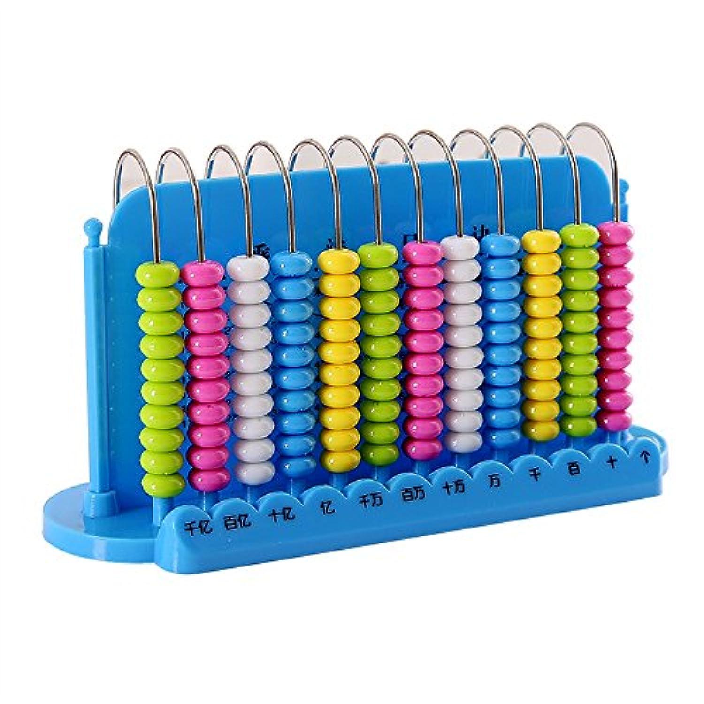 Tuersuer 早期子供用 おもちゃ 子供用 プラスチックパズル 算数学玩具 数学 教育補助 計算ラック ブルー