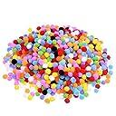 Tumao ポンポン手芸 ポンポンセット2000個ボンボン1cmカラーミックスふわふわ ボール ポンポンインテリア 可愛い彩るポンポン ふかふか毛玉おもちゃ 女性 児童diy 手作り雑貨素材 手芸材料 カラー レディース