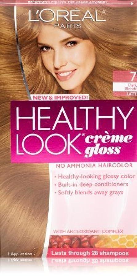 レンジ傑出した縮れたHealthy Look Dark Blonde, Latte by L'Oreal Paris Hair Color [並行輸入品]