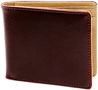 (マルカワジーンズパワージーンズバリュー) Marukawa JEANS POWER JEANS VALUE 財布 メンズ 二つ折り 本革 イタリアレザー 3color Free ダークブラウン
