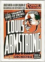 ポスター ルイ アームストロング ルイ アームストロング - Connie\'s Inn NYC、 1935 - 額装品 アルミ製ベーシックフレーム(ライトブロンズ)