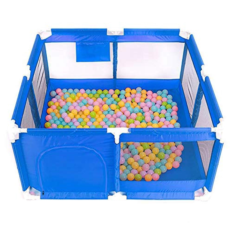 余分なラージPlaypen 100ボール安全アンチロールオーバースクエアベビーPlayard通気性アンチコリジョン幼稚園プレイフェンス135×135×68cm (色 : 青)