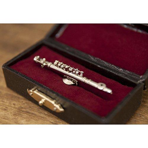 [해외]Akitzuki 소형 밴드 핀 배지 플루트 실버/Akitzuki miniature band pin badge flute silver