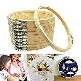 10個入り 刺しゅう枠 刺繍枠 ツール 竹製 円形 径15cm クロスステッチ キルティング用