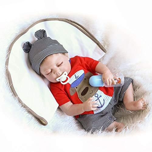 かわいいかわいいソフトシリコンリボーン寝袋赤ちゃん人形生き生きした新生児のドール...