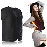 Heated Vest, Battery Electric Heating Vest with USB Interface