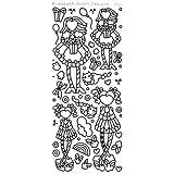 エリザベスクラフトデザインLittle Cuties 2?peel-offステッカー、シルバー
