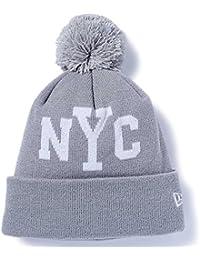 New Era ニューエラ ニットキャップ ポンポンニット ニューヨークシティ NYC ライトグレー ホワイト スノーホワイト 11322093