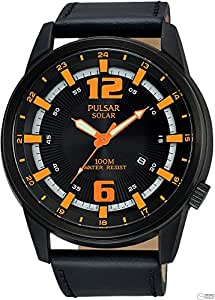 [セイコー パルサー]SEIKO PULSAR ソーラーパワー 本革 100m防水 メンズ 腕時計 PX3081X1 [並行輸入品]