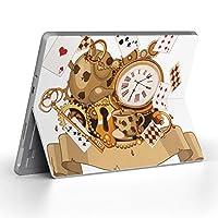 Surface go 専用スキンシール サーフェス go ノートブック ノートパソコン カバー ケース フィルム ステッカー アクセサリー 保護 トランプ ハート アンティーク 009263