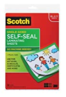 Scotch 23cm x 30cm Laminating Sheets Letter Size Single Sided, 50 Pouches (SF854-1B)
