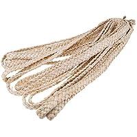 Lovoski DIY 帽子 クラフト 手作り トウモロコシの藁 わら編みリボン 装飾 全2サイズ  - 2.5cm
