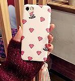 Petit Prime ハート ダイヤ タッセル付 ソフト アイフォン ケース ピンク iPhone6 / iPhone6s 兼用