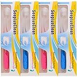 プラーク検出ライト付き 歯ブラシ シープラスクリーン ブルー?ピンク 2本×2セット