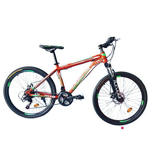 GOWAY(ゴーウェイ)マウンテンバイク 自転車 26インチ シマノ純正21段変速 Wディスクブレーキ 前輪クイックリリース (オレンジ) [並行輸入品]