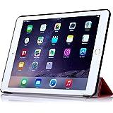 【全5色】IVSO オリジナルApple iPad Air 2 (2014) (Apple iPad Air 2 (2014) だけ 適用) 専用スマートケース 超薄型 最軽量 (レッド)