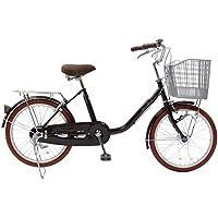 CHACLE(チャクル) 空気入れ不要! ノーパンク自転車 軽快車 20インチ [LEDオートライト、低床フレーム、大型樹脂バスケット] ブラウン FN-CC20HD