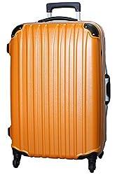 (ビータス) Beatas スーツケース TSAロック 軽量 アルミフレーム ビータス BH-F1000 Mサイズ エンボスオレンジ(中型 4日5日6日7日用) 【一年修理保証】【M/E-OR】SUITCASE