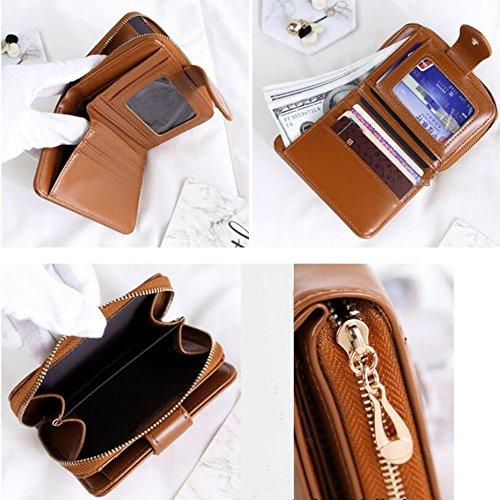 6b916a388b85 ... YOBOKO 財布 wallet ギフト ウォレット 女性用 かわいい 可愛い 大人 カード 小銭入れ 二つ折財布 ...