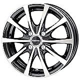 【適合車種:ホンダ N WGN(JH系 ターボ車)2013~ サマータイヤセット】 FALKEN SINCERA SN832i 155/65R14 夏用タイヤとホイールの4本セット アルミホイール:HOT STUFF ラフィット LE-03_ブラックポリッシュ 4.5-14 4/100 (14インチ サマータイヤセット)