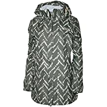 The North Face Women's Resolve Parka Rain Jacket Green/Print