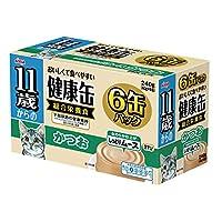 健康缶 11歳からの健康缶6P しっとりムース かつお 40g×6缶