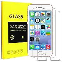 DOSMUNG iPhone8/7用 保護フィルム(2枚セット) ガラス フィルム-強化ガラス 9H硬度 ガラス飛散防止 指紋防止
