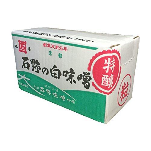 石野味噌 特醸 白粒味噌(粒) 4kg 箱入り