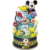 おむつケーキ ディズニー ミッキーマウス パンパース61枚 人気の3段 皆さんでプレゼントはいかが? 大きくてビックリ S