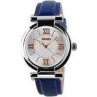 ETbotu Women Waterproof Quartz Watch with Leather Watchband Pointer Wrist Watch Ornament Gift