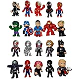 Superhero Mini Action Figures Set of 20 for Boys, Superman Cupcake Topper Figurines for Kids, Ideal for Birthday Party Favors