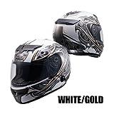 ナンカイ(NANKAI) ZEUS アルテミス フルフェイスヘルメット(インナーバイザー装備) ホワイト/ゴールド(L) NAZ102WGL