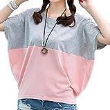 (レンタメンテ)Lentamente Tシャツ バタフライ袖 ドルマン チュニック シャツ レディース (9: グレー XL )