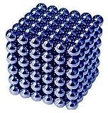 IMICHAEL 強力磁石の立体パズル ネオジム磁石 マグネットボール216個セット5MM (青)