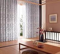東リ 高密度で繊細に織り上げた草花 フラットカーテン1.3倍ヒダ KSA60160 幅:150cm ×丈:110cm (2枚組)オーダーカーテン