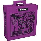 Ernie Ball P03220 Power Slinky Nickel Wound Electric Guitar Strings 11-48 Gauge, 3 Pack, Medium