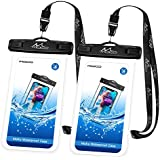 Universal Waterproof Phone Case, [2 Pack] Moko Waterproof Phone Pouch Dry Bag with Neck Strap for iPhone X/8 Plus/8, Samsung Galaxy S9 Plus/S9, BLU, Moto & More