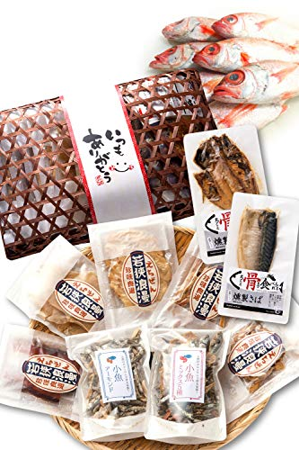 プレゼント ギフト おつまみ 9種 竹かご のどぐろ 珍味 おつまみセット 詰め合わせ【通常便】 えいひれ スルメ 海鮮 手土産 越前宝や
