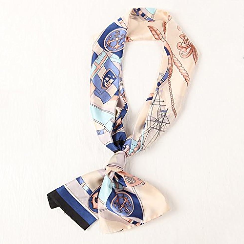 王位事務所宿題をするGAODUZI スカーフ女性の夏のスカーフ狭い夏の野生のビンテージスカーフの春のスカーフ ( 色 : C )