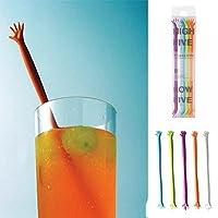 5pcs Me Hand Sticks Fashion Accessories Stir Bar Stirrers Cocktail Drink 603216079794