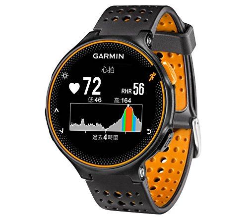 GARMIN(ガーミン) ランニングウォッチ 時計 GPS 心拍計 VO2Max ライフログ 50m防水 ForeAthlete 235J ブラック×オレンジ 【日本正規品】 FA235J 37176J