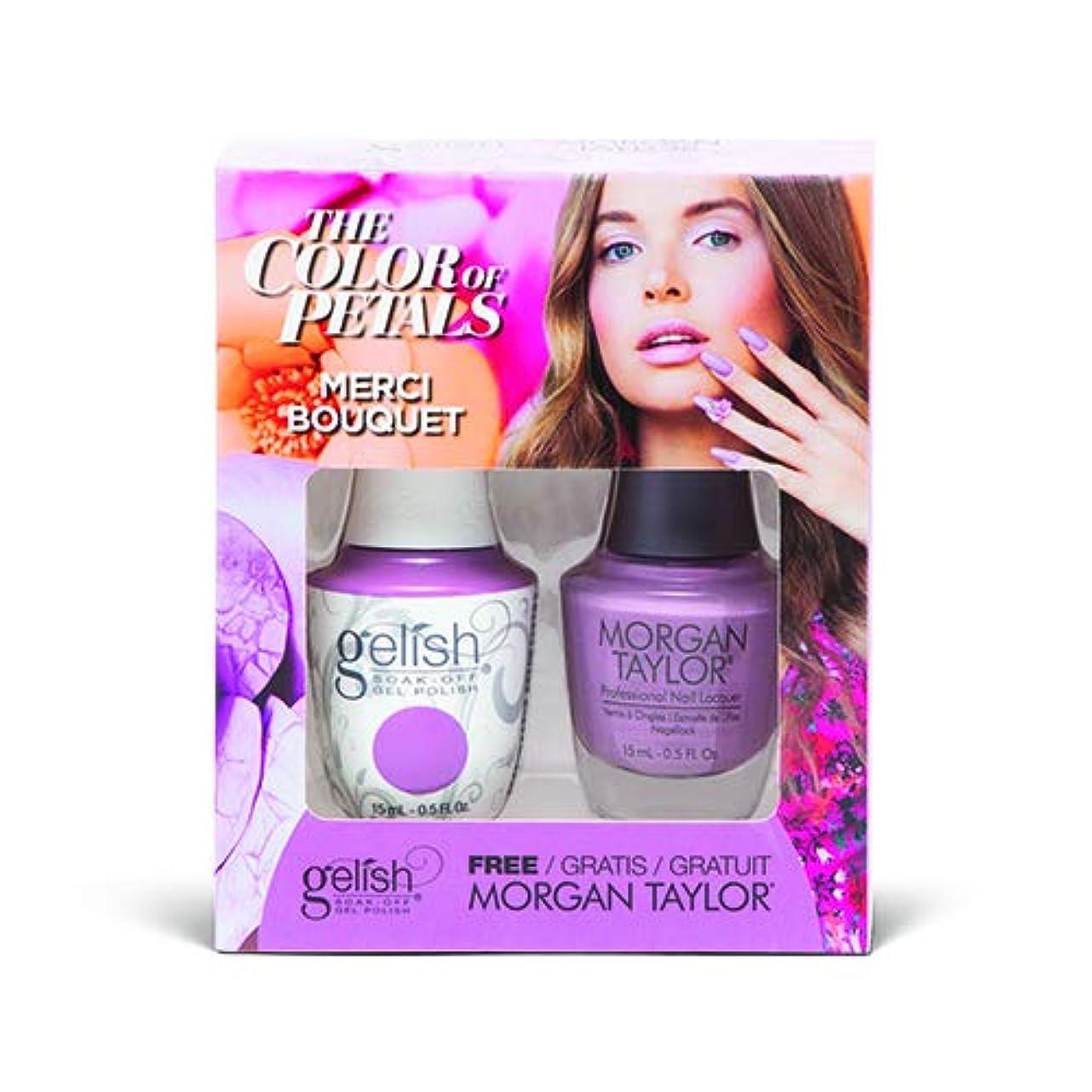 葉を拾う一族暗いHarmony Gelish - Two Of A Kind - The Color Of Petals - Merci Bouquet - 15 mL / 0.5 Oz