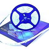 ぶーぶーマテリアル LEDテープ ブルー 青 600連 高輝度 5m 12V 白ベース 防水 IP65 【カーパーツ】