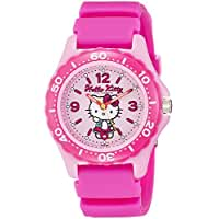 [シチズン キューアンドキュー]CITIZEN Q&Q 腕時計 Hello Kitty (ハローキティ) ダイバー アナログ表示 10気圧防水 ピンク VQ75-230 レディース