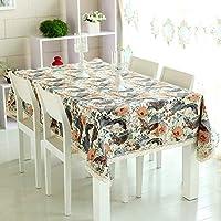 QYM テーブルクロス - ヨーロッパ - アメリカンガーデンテーブルクロス現代のミニマリストスタイルのダイニングルームのテーブルクロスコーヒーテーブルのテーブルクロスアートテーブルクロス (Color : A, サイズ : 140x180cm(55x71inch))