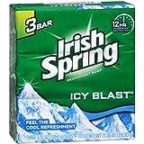 【Irish Spring】アイリッシュスプリング?デオドラント石鹸113g×3個パック 【アイシーブラスト】